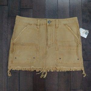 Free People Taupe Mini Skirt Size 30